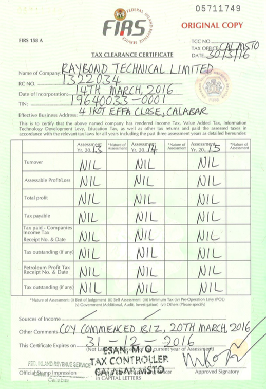 Documents – Raybond Technical Limited